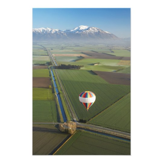 Hot-air Balloon, near Methven, Canterbury Photo Print
