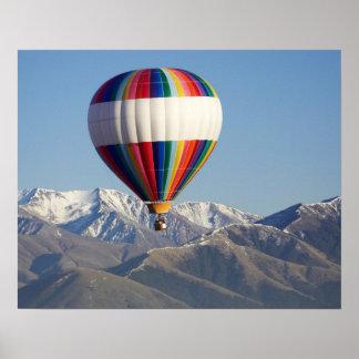 Hot-air Balloon, near Methven, Canterbury Poster