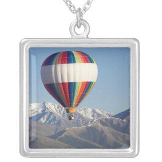Hot-air Balloon, near Methven, Canterbury Silver Plated Necklace