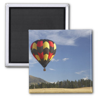 Hot Air Balloon near Wanaka, South Island, New 2 Inch Square Magnet