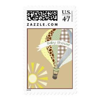 Hot Air Balloon Neutral Baby Shower Postage