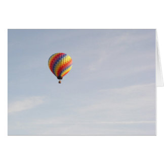Hot Air Balloon Notecard - horizontal
