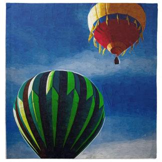 Hot Air Balloon Oil Painting Cloth Napkins