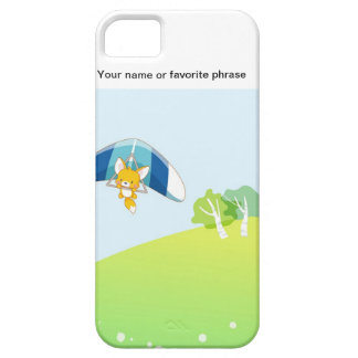 Hot air balloon on pastel green and blue. iPhone SE/5/5s case