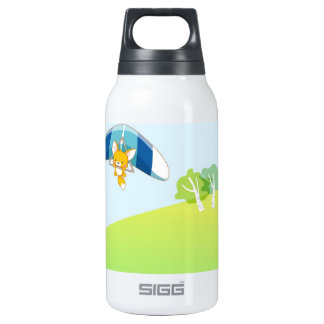 Hot air balloon on pastel green and blue. SIGG thermo 0.3L insulated bottle