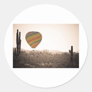 Hot Air Balloon On the Arizona Sonoran Desert Sticker
