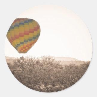 Hot Air Balloon On the Arizona Sonoran Desert Stickers