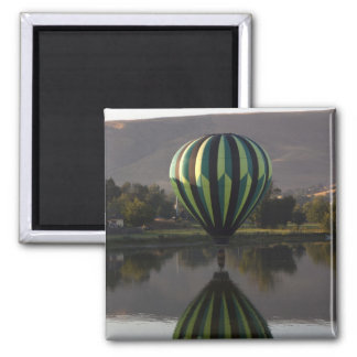 Hot air balloon over the Yakima River 2 Magnet