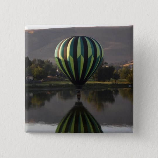 Hot air balloon over the Yakima River 2 Pinback Button