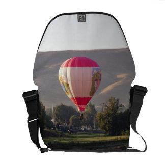 Hot air balloon over the Yakima River Messenger Bag