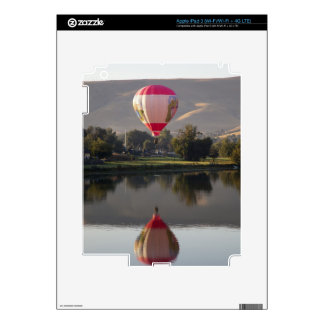 Hot air balloon over the Yakima River Decal For iPad 3