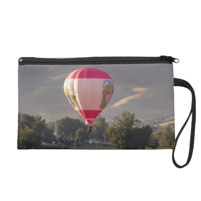 Hot air balloon over the Yakima River Wristlet Purse