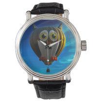 Hot Air Balloon Owl Wrist Watch