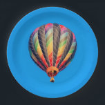 "Hot Air Balloon Paper Plate<br><div class=""desc"">(45th Anniversary) at the Floyd Bennett Memorial Airport in Queensbury,  NY by Debbie Quick of Debs Creative Images. To see more images by Debbie,  check out her website at: www.debscreativeimages.com</div>"
