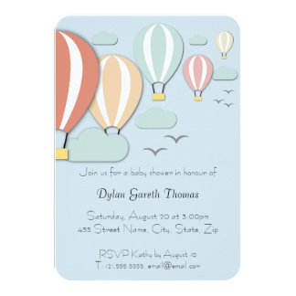 Hot Air Balloon Papercut Style Card