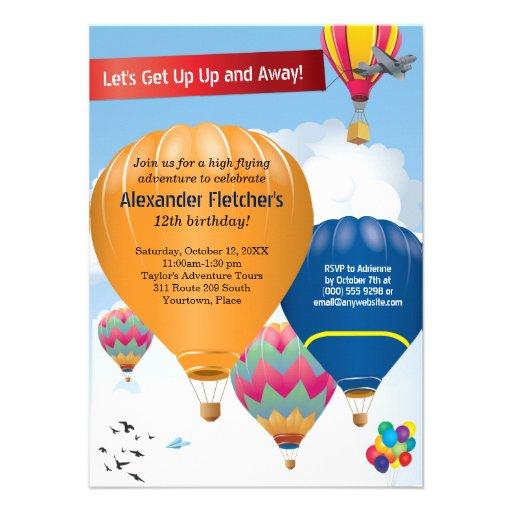 Hot Air Balloon Party Announcement