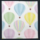 """Hot Air Balloon Pastel Pattern Cloth Napkin<br><div class=""""desc"""">Hot Air Balloon Pastel Pattern. Pale Rainbow Colors: Pink,  Purple,  Blue,  Green and Yellow.</div>"""