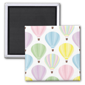 Hot Air Balloon Pastel Pattern Magnet