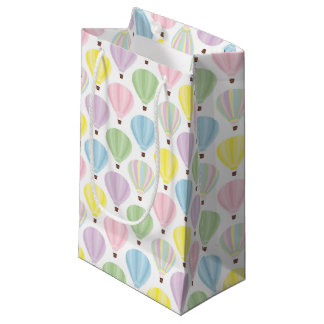 Hot Air Balloon Pastel Pattern Small Gift Bag