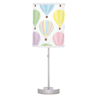 Hot Air Balloon Pastel Pattern Table Lamp