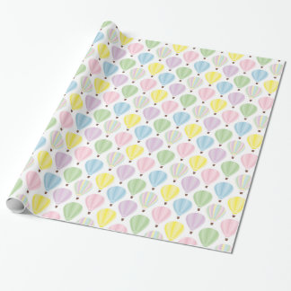 Hot Air Balloon Pastel Pattern Wrapping Paper