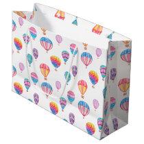 Hot Air Balloon Pattern Large Gift Bag