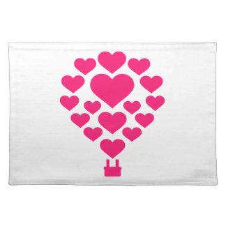 Hot air balloon cloth place mat