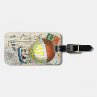 Hot Air Balloon Post Card Luggage Tag