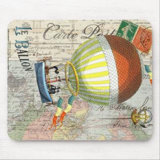Hot Air Balloon Post Card Mouse Pad