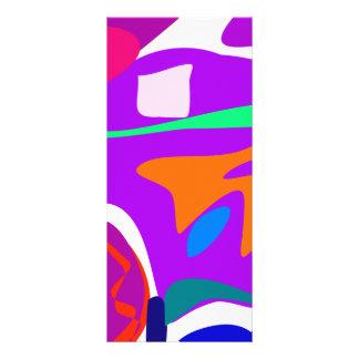 Hot-Air Balloon Purple Rack Card