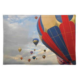 Hot Air Balloon Race in Reno Nevada Cloth Placemat