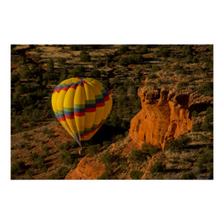 Hot air balloon, Red Rock, Coconino National Poster