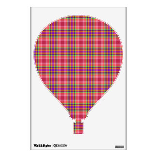 Hot Air Balloon - Reds, Oranges, Purples Scottish Wall Decal