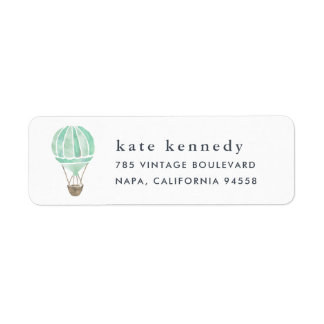 Hot Air Balloon Return Address Label | Mint