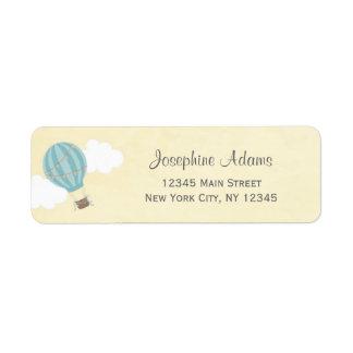 Hot Air Balloon Return Address Labels