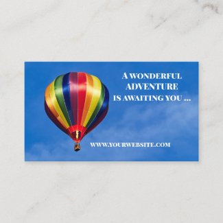 Hot Air Balloon Ride Gift Certificate Template