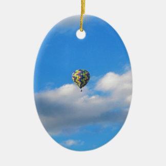 Hot Air Balloon Ride II Ceramic Ornament