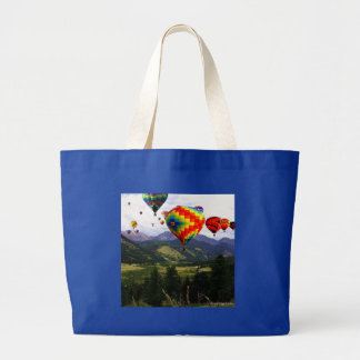 Hot Air Balloon Ride in the Rockies Large Tote Bag