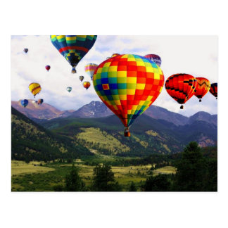 Hot Air Balloon Ride in the Rockies Post Card