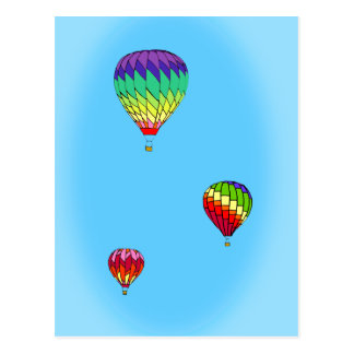 Hot Air Balloon Ride Postcard