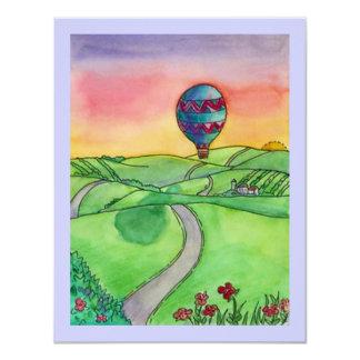 Hot Air Balloon Rides Birthday Party Invitations