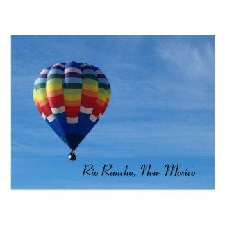 Hot air balloon, Rio Rancho, New Mexico Postcard