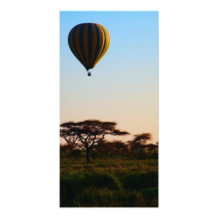Hot air-balloon safari card