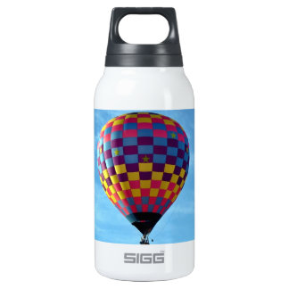 Hot air balloon sails away into the sky insulated water bottle