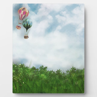 Hot air balloon scene display plaque