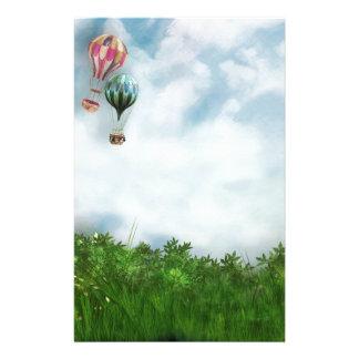Hot air balloon scene stationery