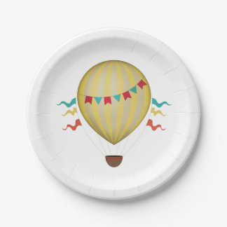 Hot Air Balloon 7 Inch Paper Plate