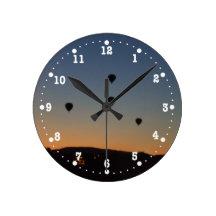Hot Air Balloon Silhouettes Clock
