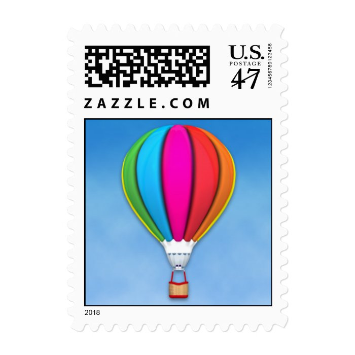 Hot Air Balloon Small Postage Stamp