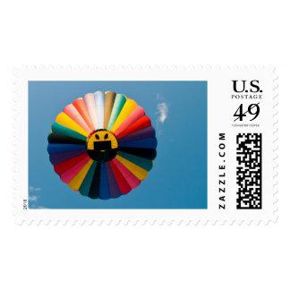 Hot Air Balloon Smile Postage Stamp